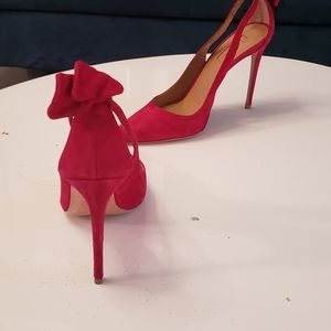 Aquazurra pink heel with bow